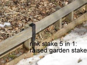 Ice rink stake 5 in 1 J-Brace
