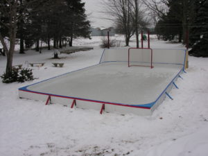 Backyard ice rink supplies support