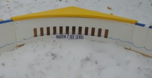 Funnel your water towatds the Grate PuckgoRound to drain excess water quickly from your rink.