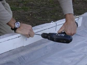 liner protection rolls backyard rink