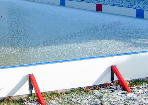 how to build a ice rink without wood