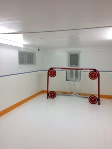 Hockey Panels Basement Rink