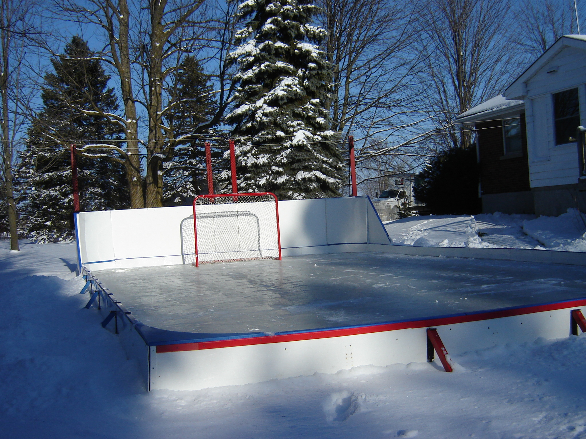 making your basic rink backyard rink