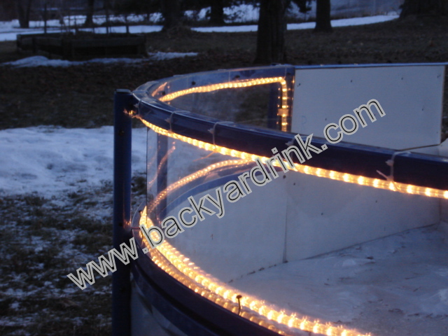 Backyard Ice Rink Lights :  skating or hockey and ideal for community rinks Lights not included