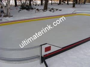 Backyard rink corners and puckboard colors