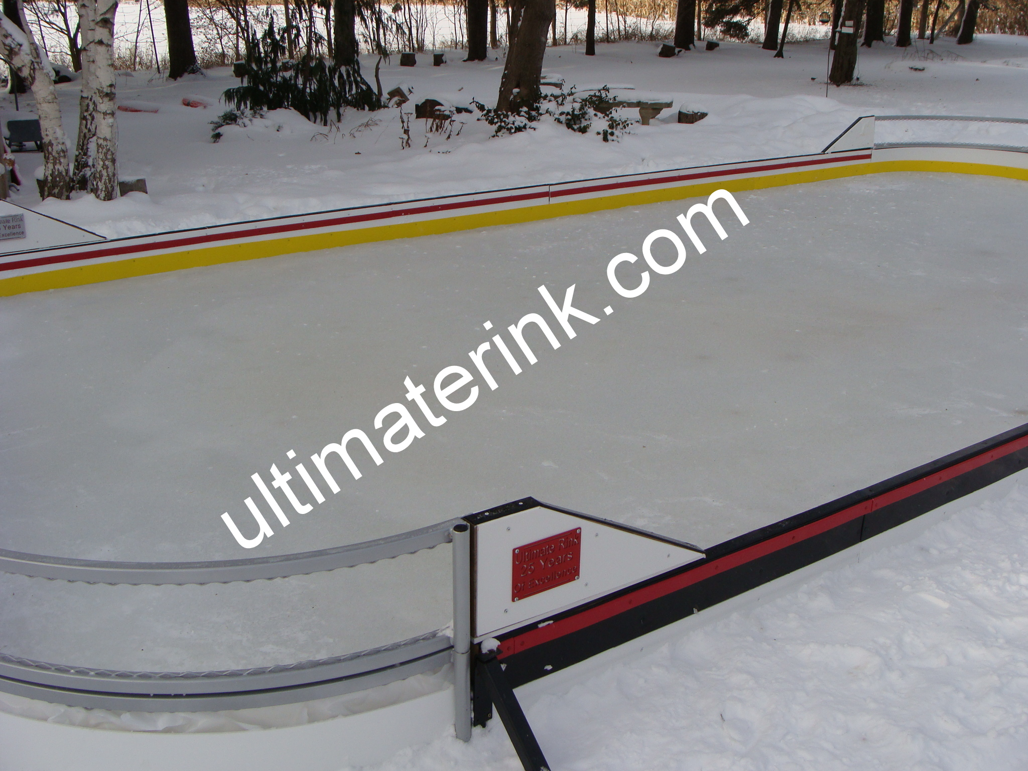 Backyard rink corners and puckboard colors
