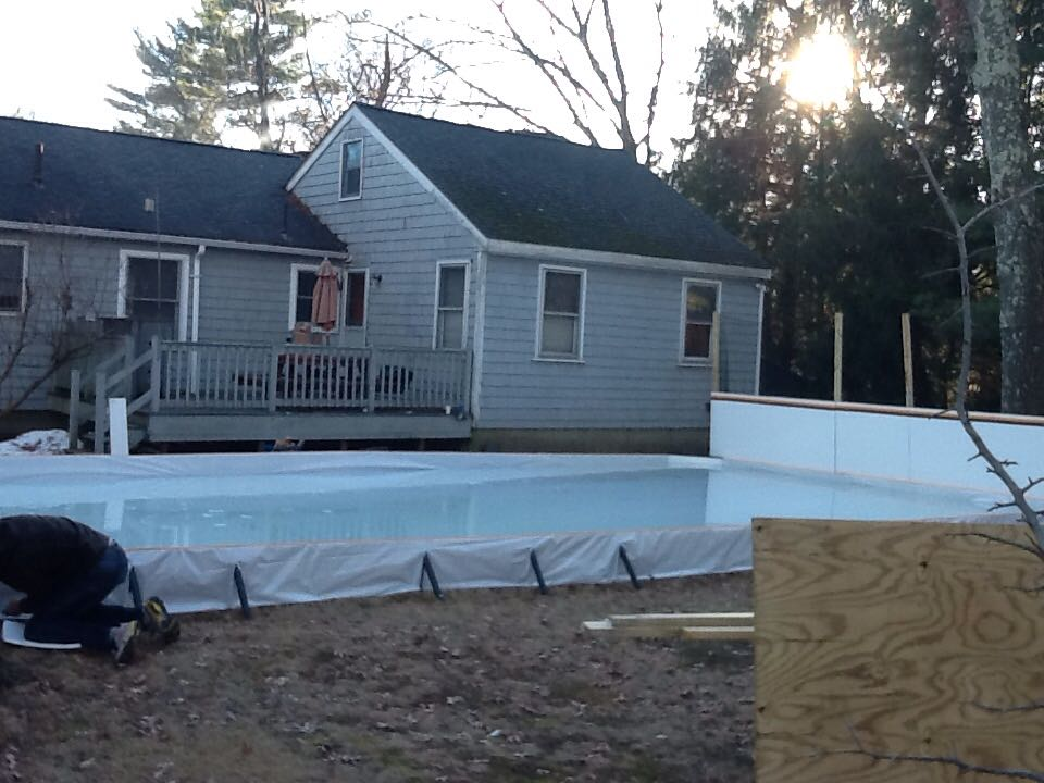 Ultimate Backyard Rink : Ultimate Rink on New England Sports Network  Backyard Rink