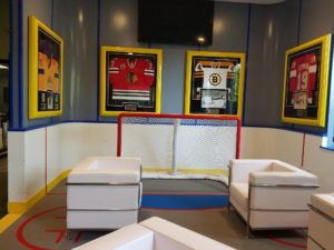 Rec Room Reception Area Rink Decor and Design
