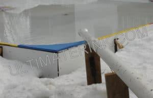 Down spout backyard rink fill